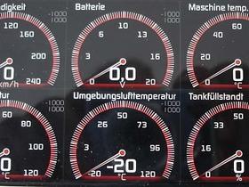Anzeigen der (für mich) relevanten Fahrzeugdaten