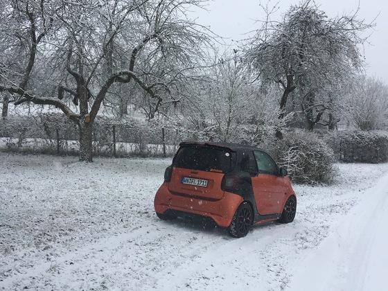 Endlich haben wir auch Schnee :D