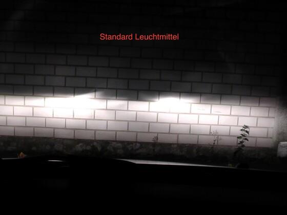 Vergleich Standard Leuchtmittel vs. Night Breaker Laser