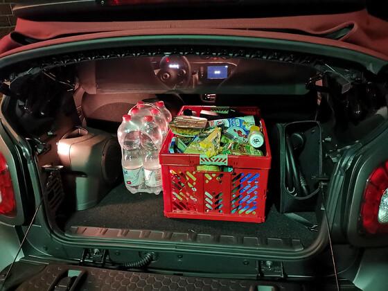 Einkauf mit Cabrio