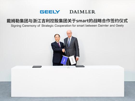 Daimler bestätigt Deal mit Geely